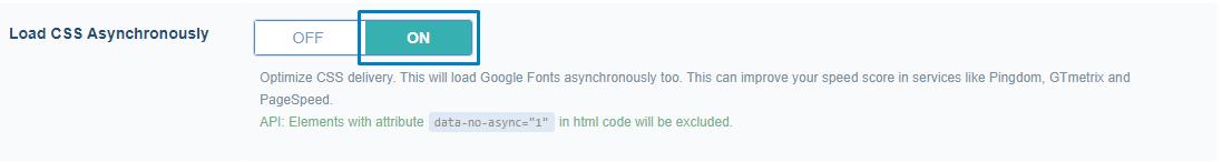 CSS dosyalarını sekronize olmayan şekilde yükleme